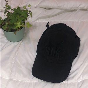 PINK black ball cap